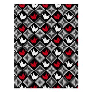 El japonés Origami Cranes el modelo (Orizuru) Postal