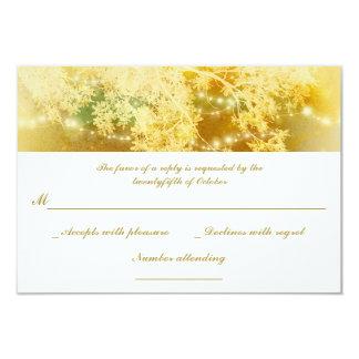 el jardín amarillo enciende las ramas que casan invitación 8,9 x 12,7 cm