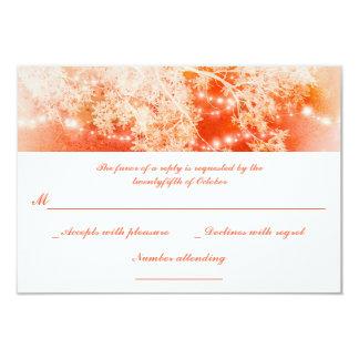 el jardín coralino enciende las ramas que casan invitación 8,9 x 12,7 cm