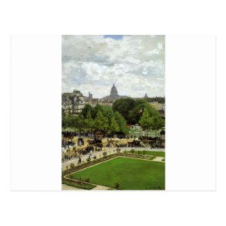 El jardín de la princesa de Claude Monet Postal