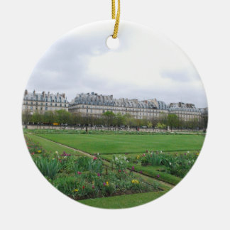 El jardín de Tuileries París Francia Ornamento De Navidad