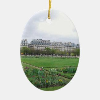 El jardín de Tuileries, París Francia Ornamento Para Arbol De Navidad