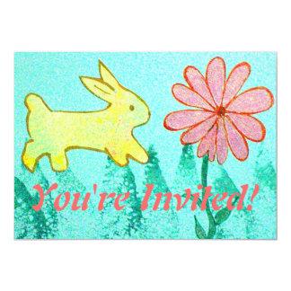 El jardín del conejo invitación 12,7 x 17,8 cm