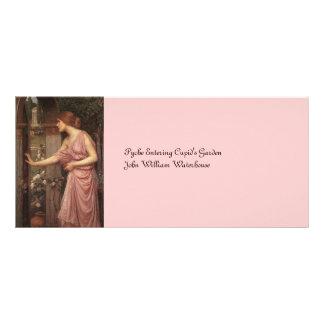 El jardín del Cupid que entra de la psique Diseño De Tarjeta Publicitaria