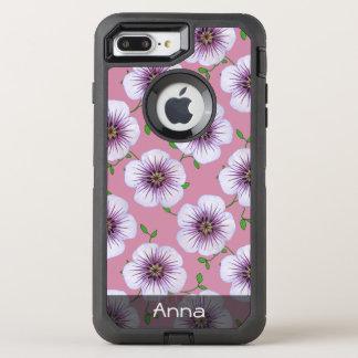 El jardín púrpura romántico florece el modelo funda OtterBox defender para iPhone 8 plus/7 plus