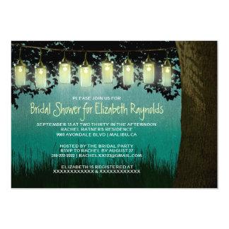 El jardín rústico enciende invitaciones nupciales invitación 12,7 x 17,8 cm