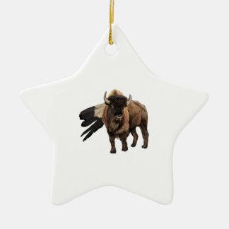 El jefe adorno navideño de cerámica en forma de estrella