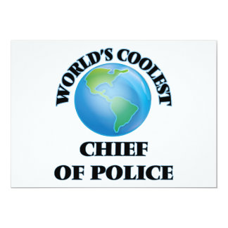 El jefe de policía más fresco del mundo invitación 12,7 x 17,8 cm