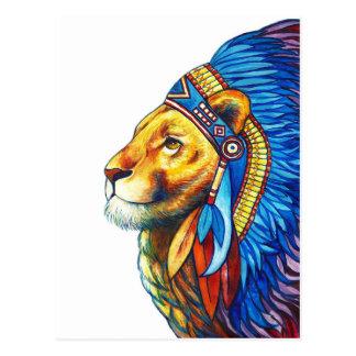 El jefe del león postal