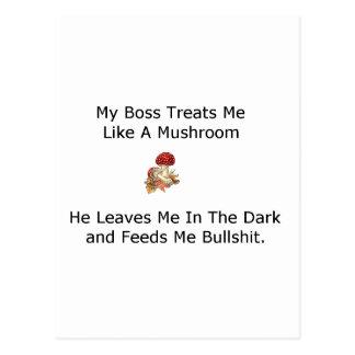 el jefe me trata como una seta postal