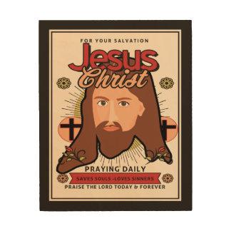 El Jesucristo ahorra el arte de madera de la pared