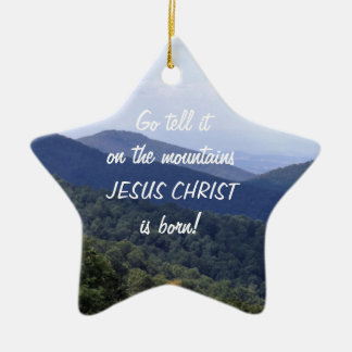 ¡El Jesucristo nace! Adorno De Cerámica