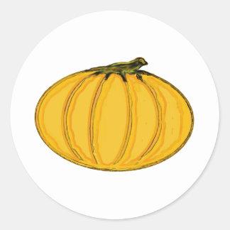 El jGibney pumpkin7tc100 de la serie del artista Pegatina Redonda
