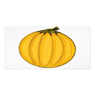 El jGibney pumpkin7tc100 de la serie del artista Tarjeta Con Foto Personalizada