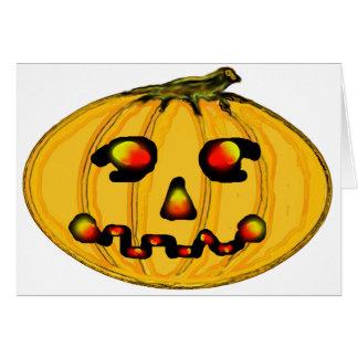 El jGibney Pumpkinfirey de la serie del artista de Tarjeta De Felicitación