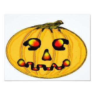 El jGibney Pumpkinfirey de la serie del artista Invitación 10,8 X 13,9 Cm
