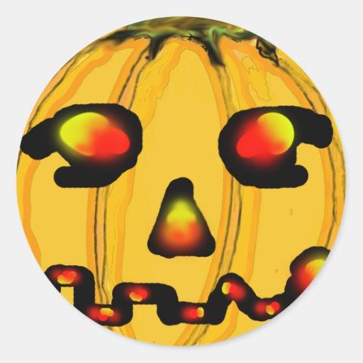 El jGibney Pumpkinfirey de la serie del artista Etiquetas Redondas