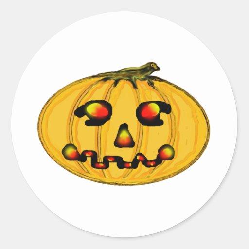 El jGibney Pumpkinfirey de la serie del artista Etiqueta Redonda