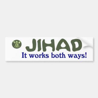 El Jihad trabaja el PARACHOQUE de la CA de ambas m Pegatina Para Coche