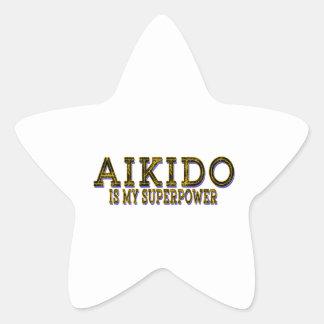 El judo es mi AIKIDO Pegatina En Forma De Estrella