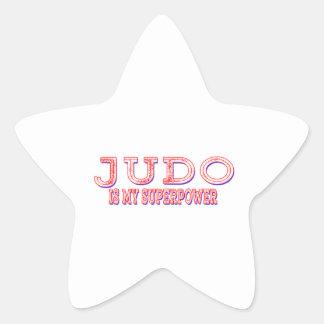 El judo es mi superpotencia calcomanía forma de estrella personalizadas