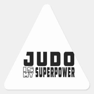 El judo es mi superpotencia calcomanía de triangulo personalizadas