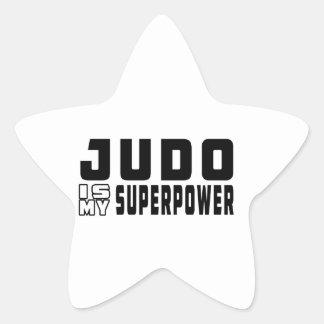 El judo es mi superpotencia calcomanías forma de estrella personalizadas