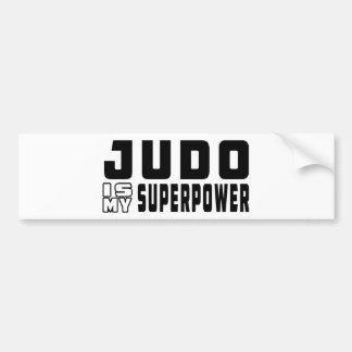 El judo es mi superpotencia pegatina para coche