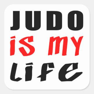 El judo es mi vida calcomania cuadrada personalizada