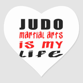 El judo es mi vida calcomania corazon