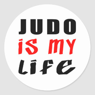 El judo es mi vida etiquetas redondas