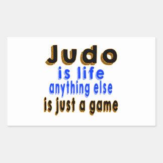 El judo es vida que todo lo demás es apenas un pegatina rectangular