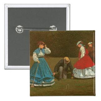 El juego del croquet, 1866 (aceite en lona) pins