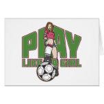 El juego tiene gusto de un fútbol del chica tarjeta