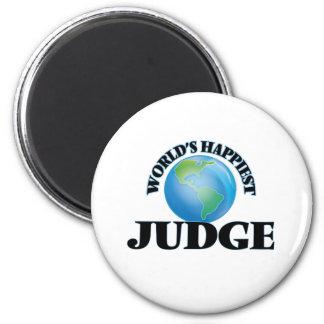 El juez más feliz del mundo imán redondo 5 cm