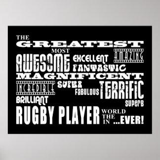 El jugador más grande del rugbi de los mejores jug póster