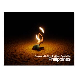 El jugar con la postal de Filipinas Meme del fuego
