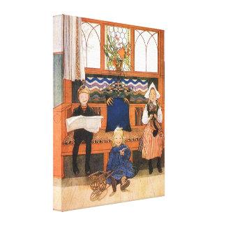 El jugar de los niños de Carl Larsson crecido Impresión En Lienzo