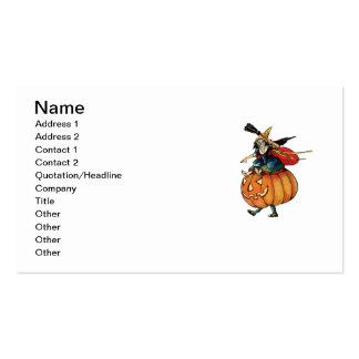 El jugar engaña (la tarjeta de Halloween del Tarjetas De Visita