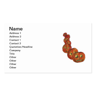 El jugar engaña (la tarjeta de Halloween del vinta Plantilla De Tarjeta De Visita