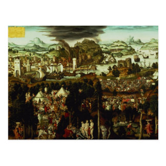El juicio de París y de la guerra de Troya, 1540 Postal