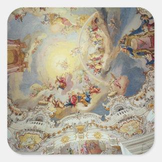 El juicio pasado, pintura del techo pegatina cuadrada