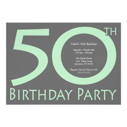 El jumbo numera la fiesta de cumpleaños (verde men anuncio
