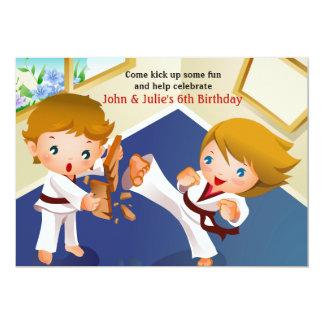 El karate embroma la invitación