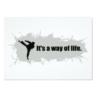 El karate es una manera de vida invitación 12,7 x 17,8 cm