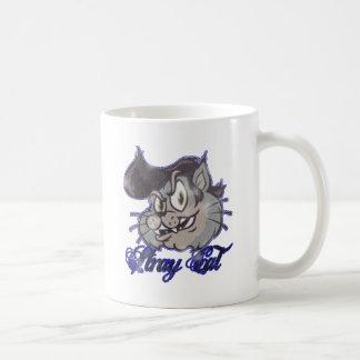 El Kat fresco del gato perdido Tazas De Café