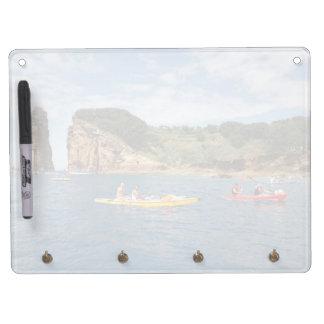 El Kayaking en Azores Pizarra Blanca Con Ganchos Para Llaves