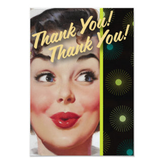 El kitsch Bitsch: ¡Gracias! ¡Gracias! Invitación 8,9 X 12,7 Cm