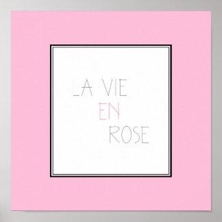 El La compite el En subió - vida en rosa Póster