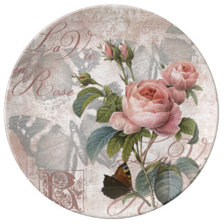 El La compite en rose.jpg Platos De Cerámica